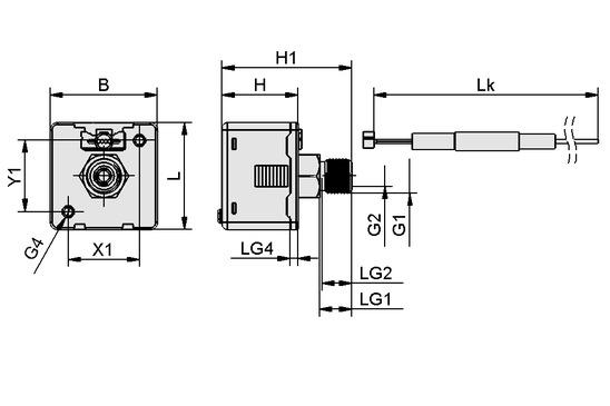 Vacuum/pressure switch cube shape VS-V-W-D PNP K 3C-D