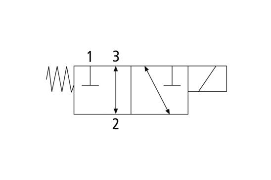 Elektromagnetventil EMVO 12 24V-DC 3/2 NC