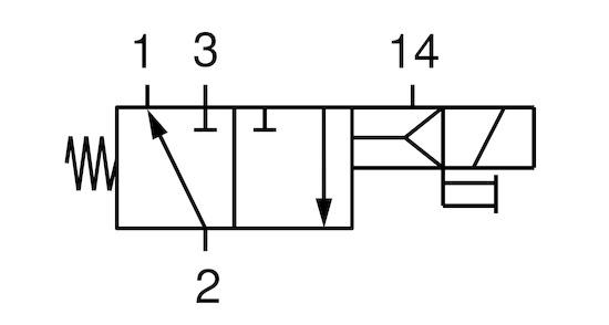 Válvula electromagnética EMVP 32 24V-DC 3/2 NO