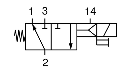 Elektromagnetventil EMVP 50 230V-AC 3/2 NO