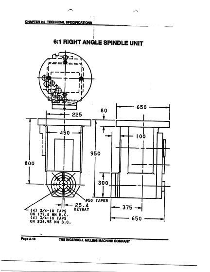 Ingersoll Ram Type CNC T-Type Horizontal Boring Mill