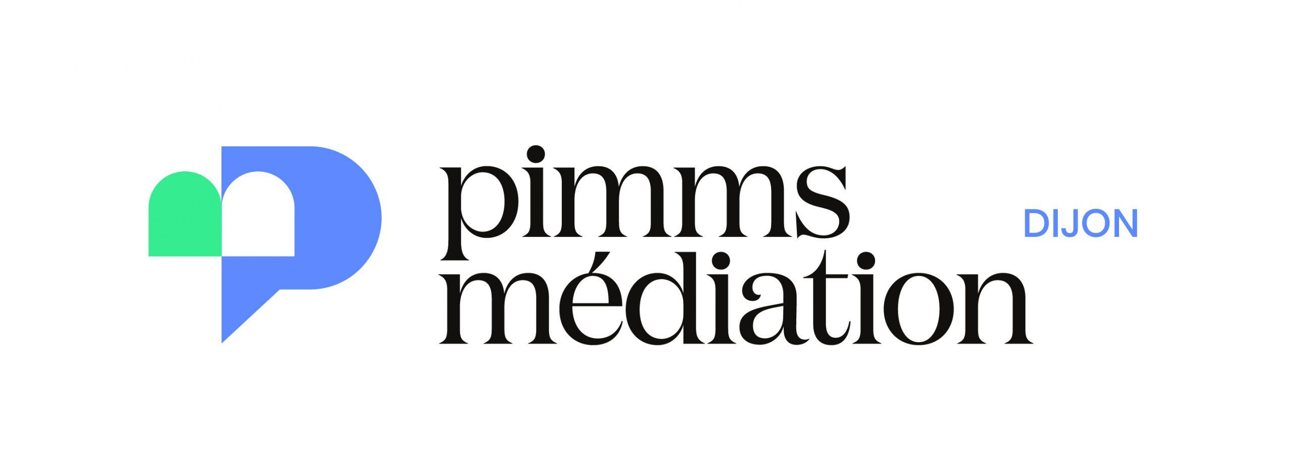 logo Pimms Médiation Dijon avec signature