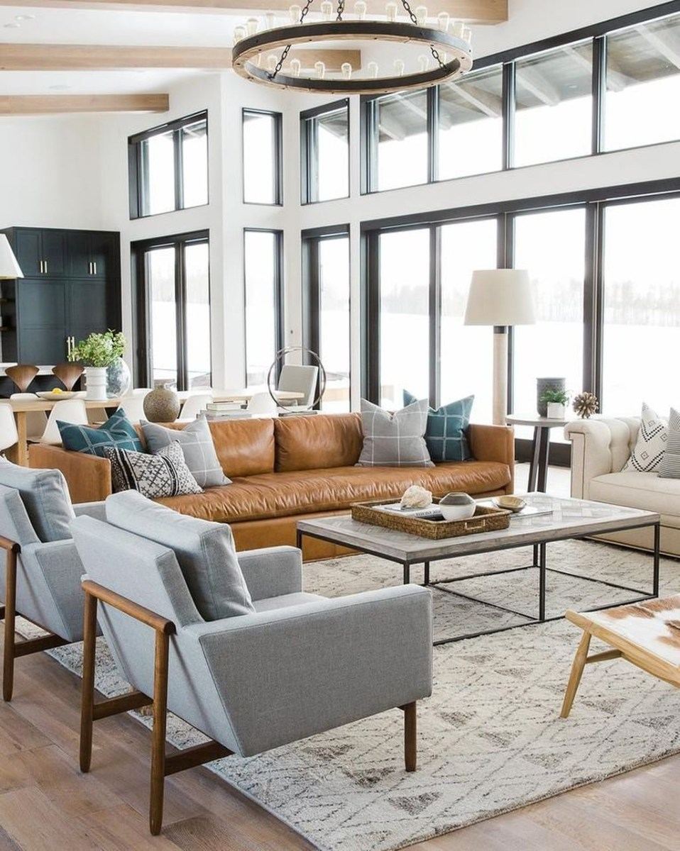 Awesome Modern Rustic Living Room Decor Ideas 43