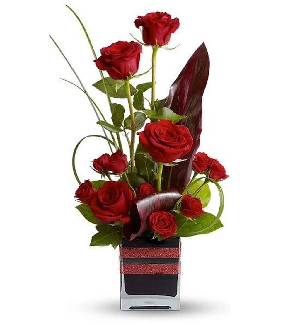Lovely Rose Arrangement Ideas For Valentines Day 20