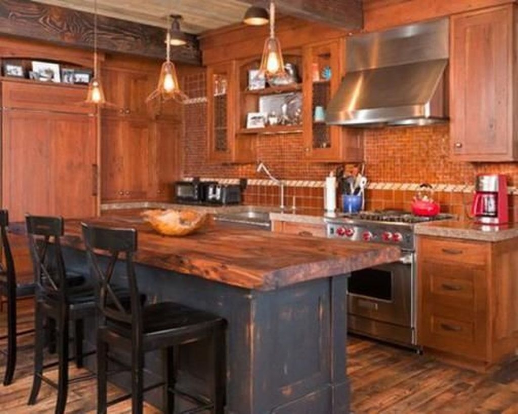Awesome Rustic Kitchen Island Design Ideas 01