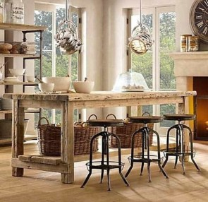 Awesome Rustic Kitchen Island Design Ideas 09