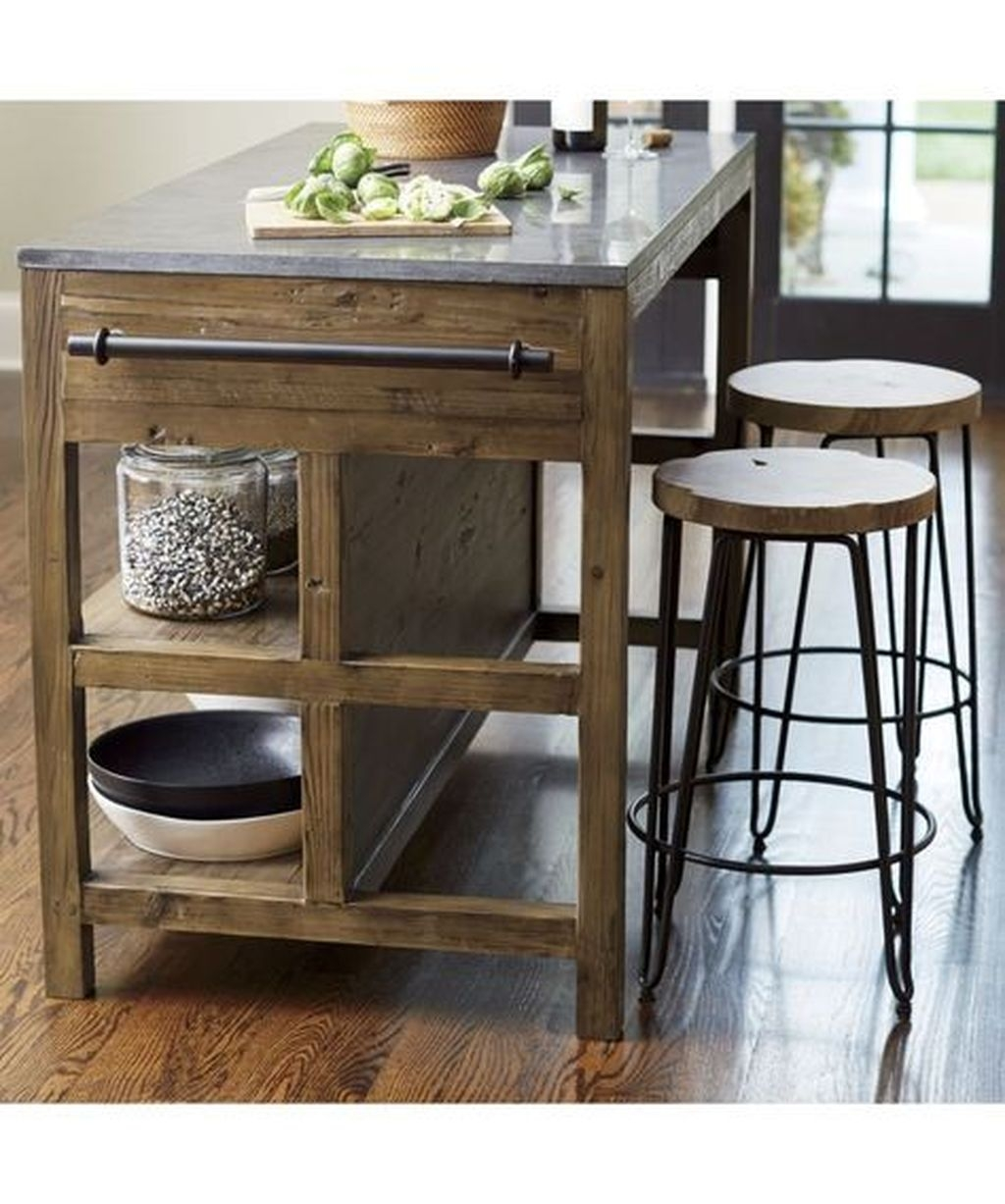 Awesome Rustic Kitchen Island Design Ideas 10