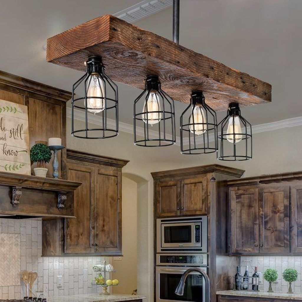 Awesome Rustic Kitchen Island Design Ideas 23