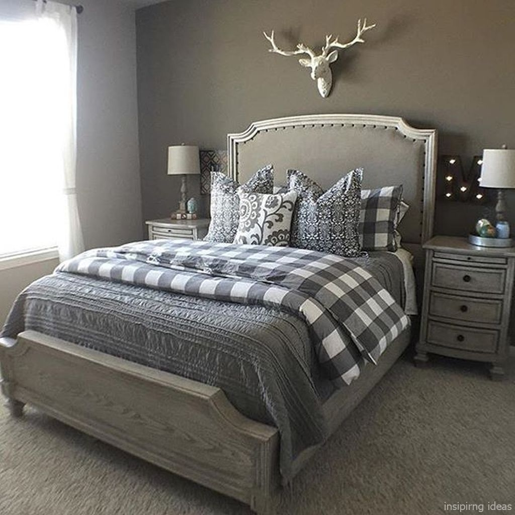 Beautiful Modern Farmhouse Master Bedroom Decoration Ideas 08