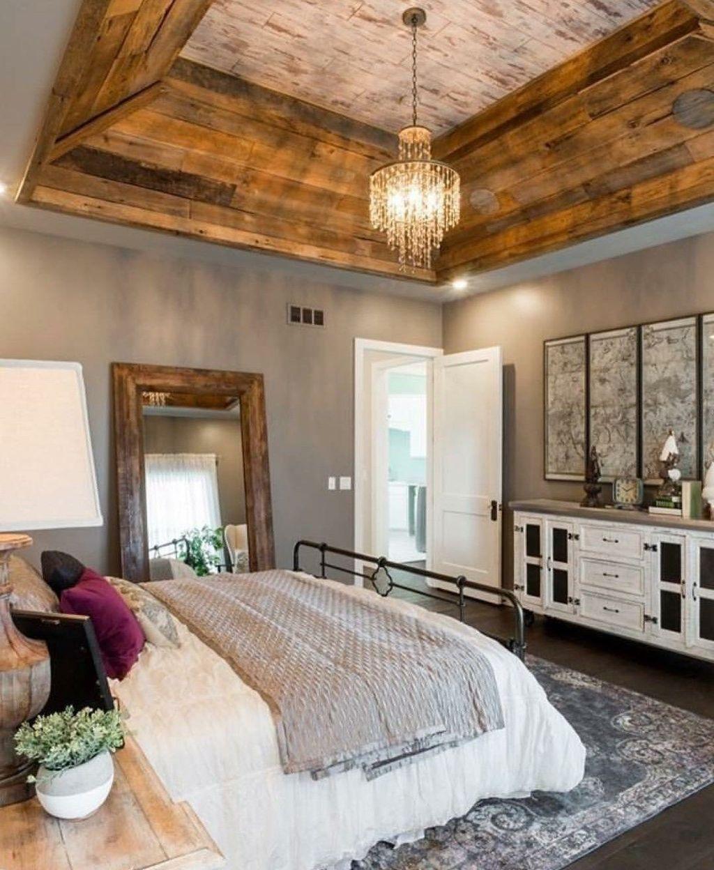 Beautiful Modern Farmhouse Master Bedroom Decoration Ideas 25