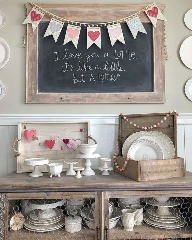 Cute Farmhouse Style Valentine Decorations 06