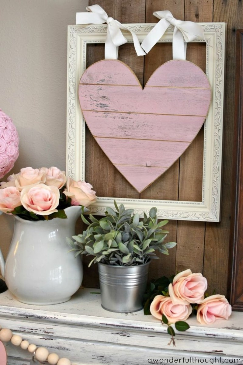 Cute Farmhouse Style Valentine Decorations 35