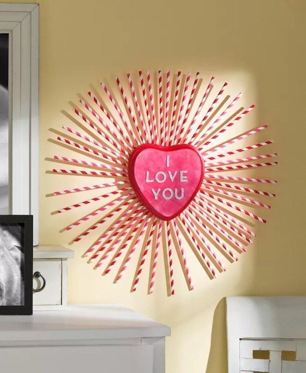 Cute Valentine Wall Art Design Ideas 27