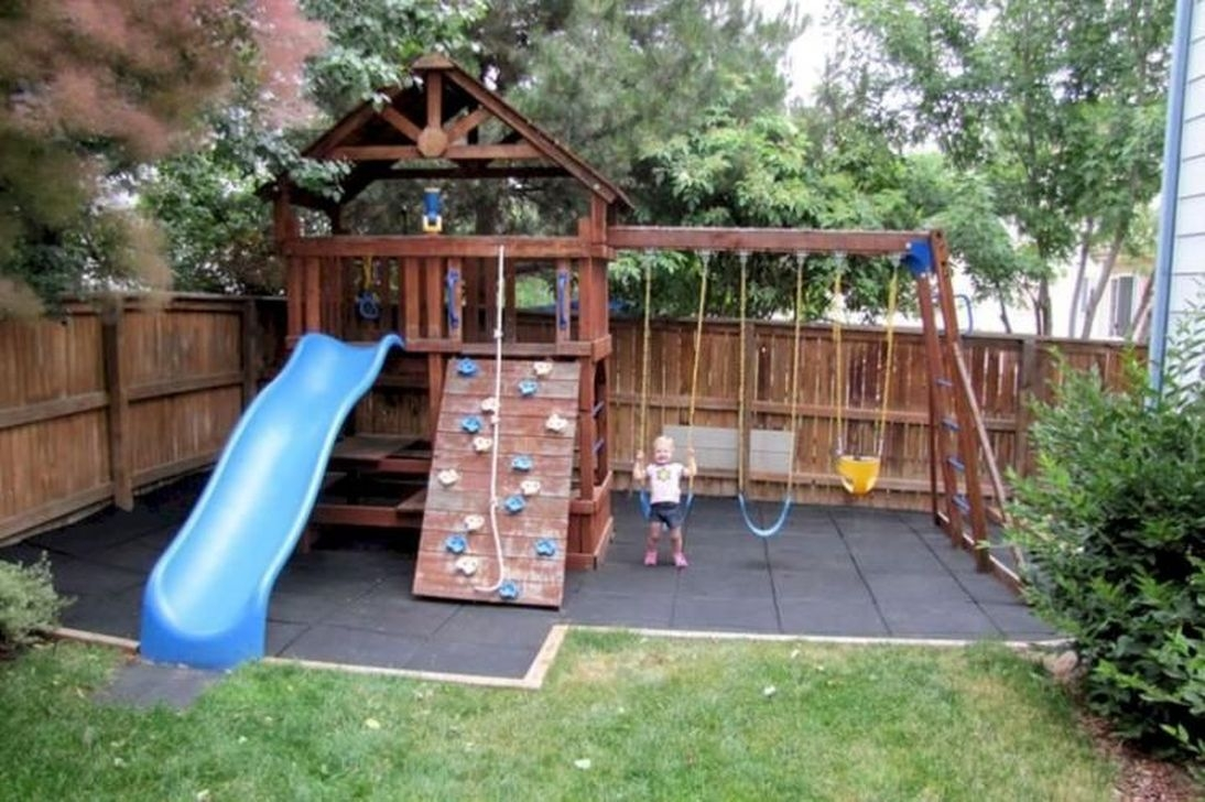 Gorgeous Backyard Playground Kids Design Ideas 10