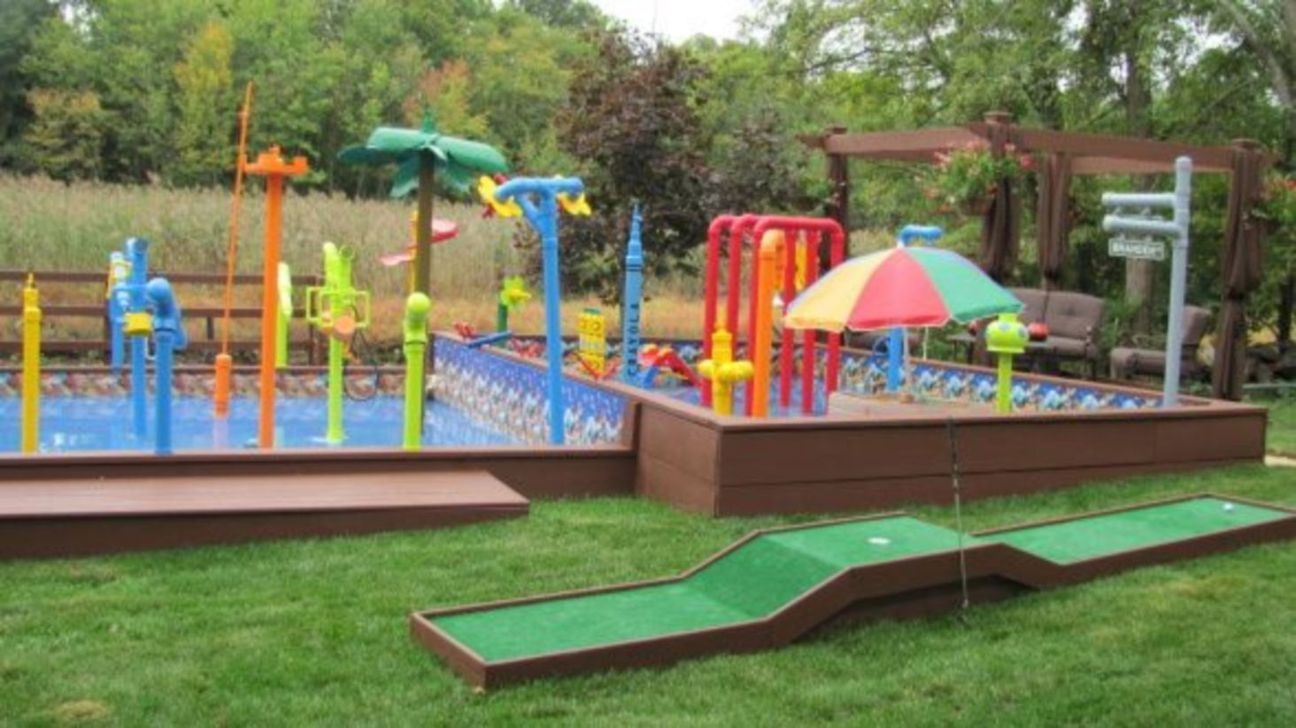 Gorgeous Backyard Playground Kids Design Ideas 19