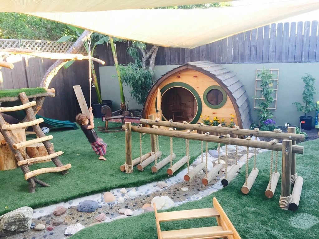 Gorgeous Backyard Playground Kids Design Ideas 26