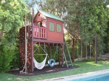 Gorgeous Backyard Playground Kids Design Ideas 36