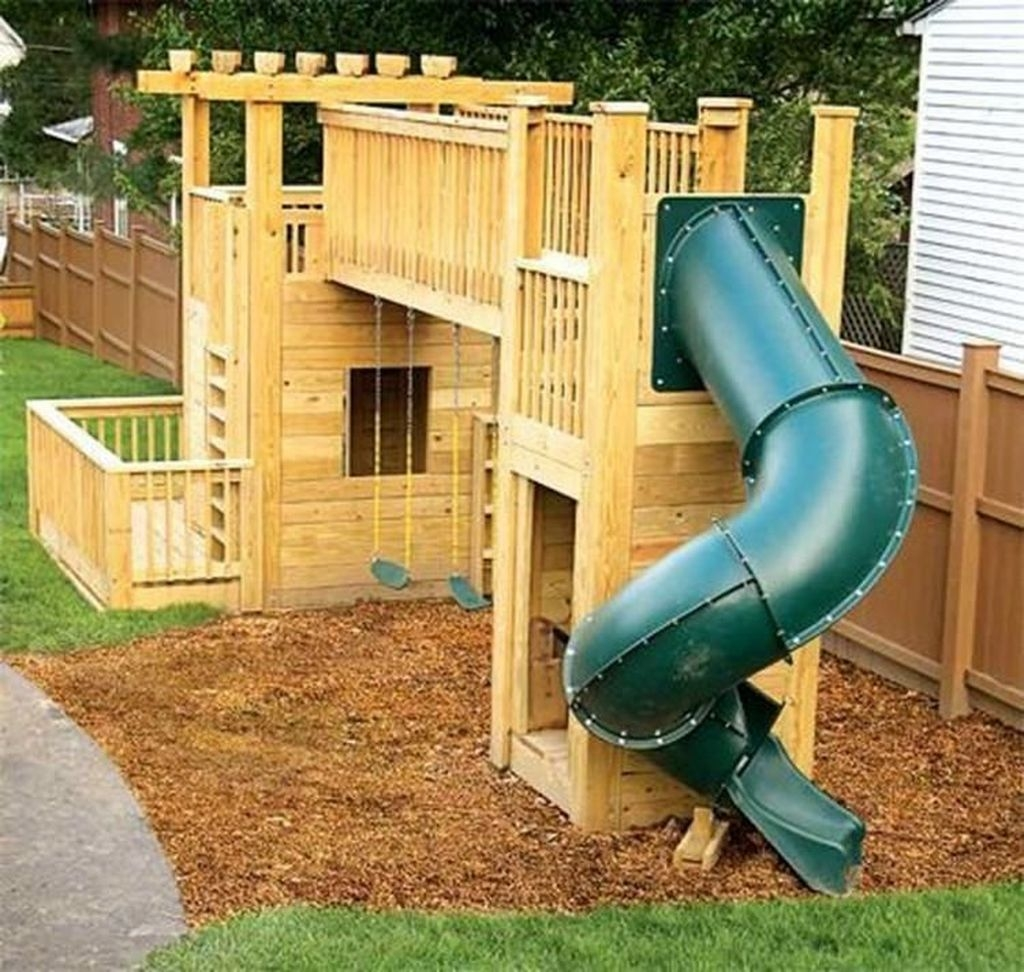 Gorgeous Backyard Playground Kids Design Ideas 44