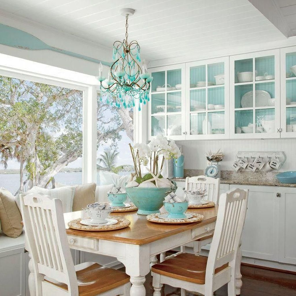 Gorgeous Coastal Kitchen Design Ideas 48
