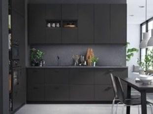 Inspiring Dark Grey Kitchen Design Ideas 21