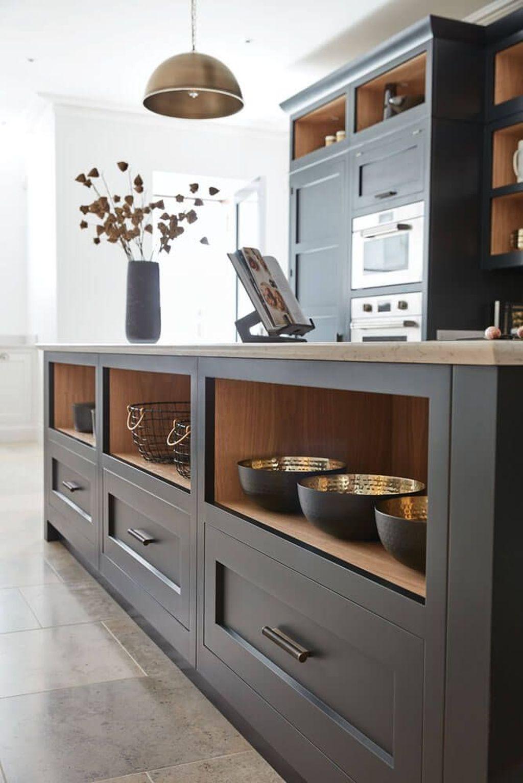 Inspiring Dark Grey Kitchen Design Ideas 24