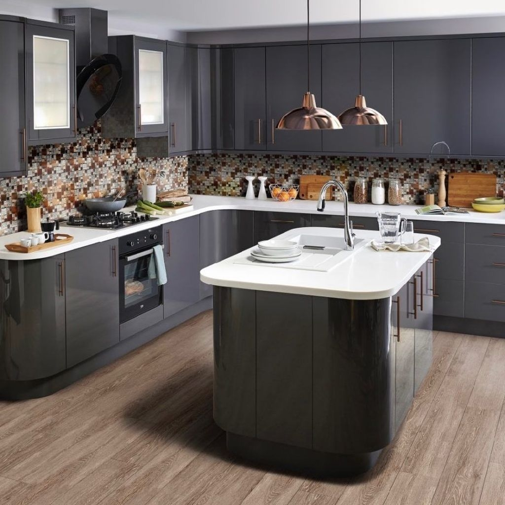 Inspiring Dark Grey Kitchen Design Ideas 27