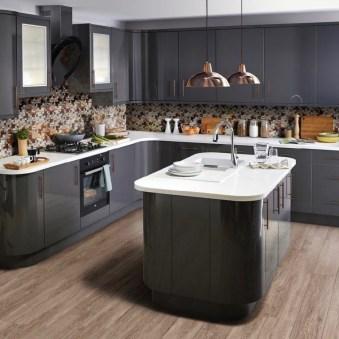 Inspiring Dark Grey Kitchen Design Ideas 27