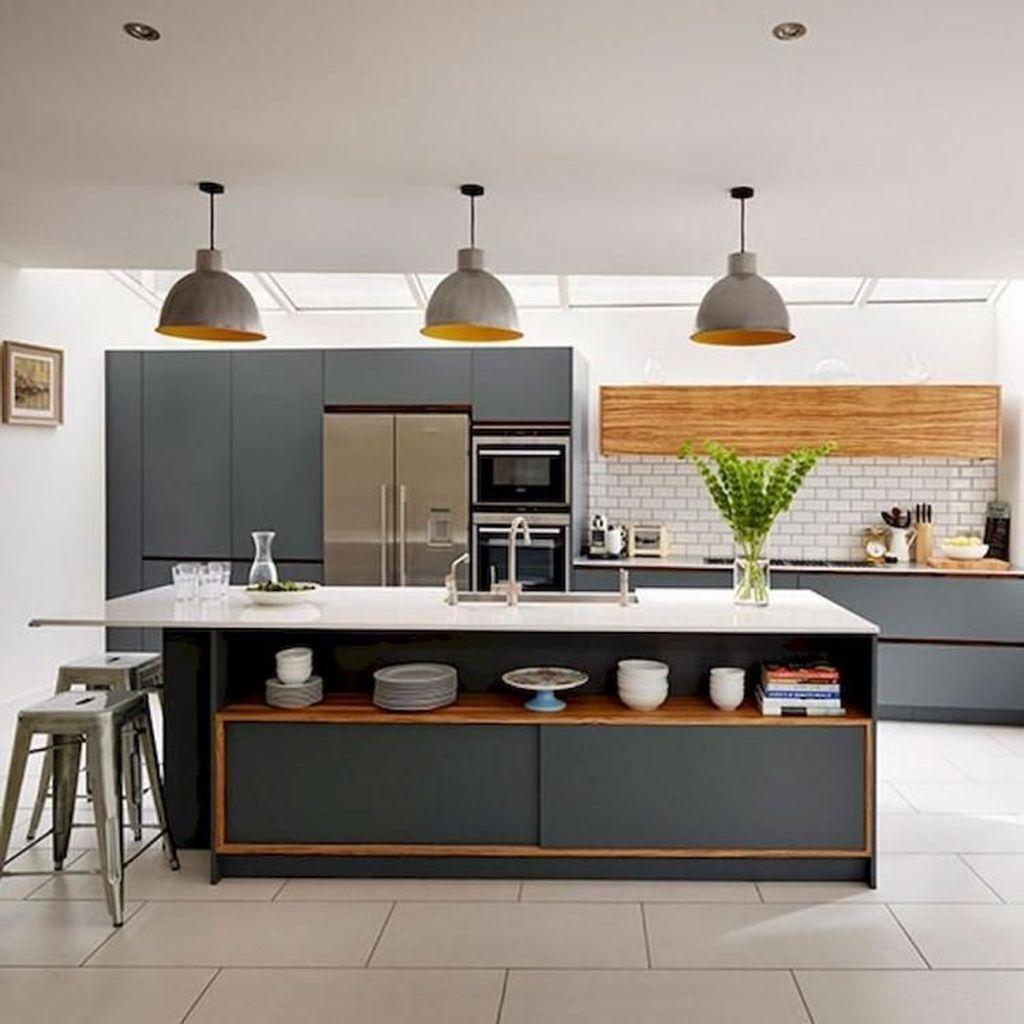 Inspiring Dark Grey Kitchen Design Ideas 28