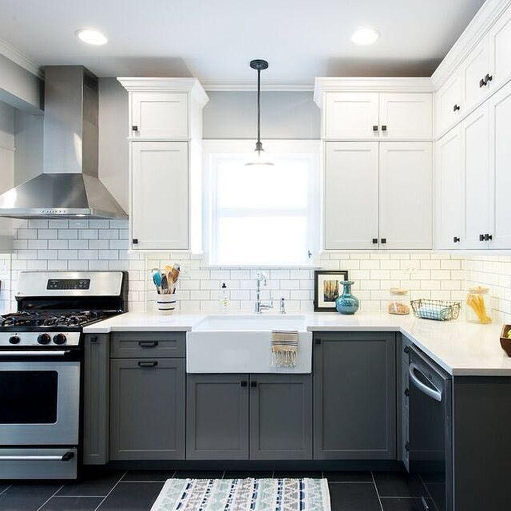 Inspiring Dark Grey Kitchen Design Ideas 31