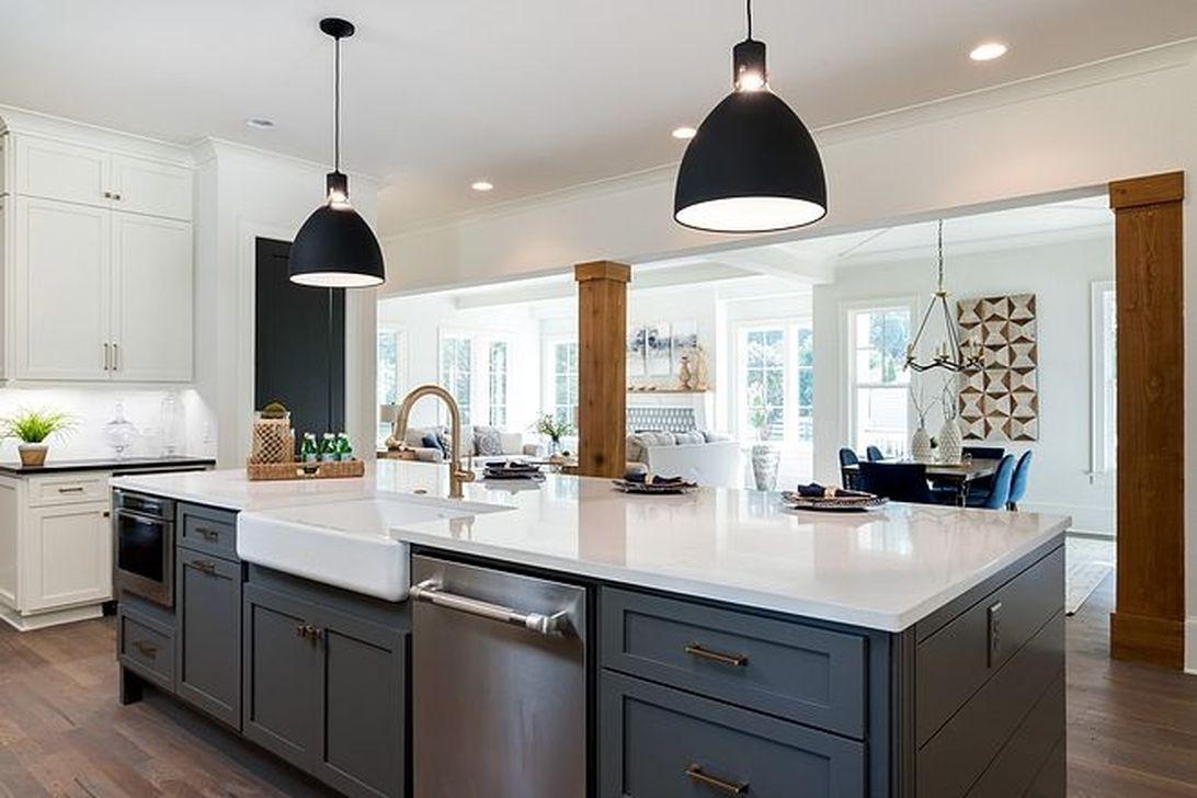 Inspiring Dark Grey Kitchen Design Ideas 35