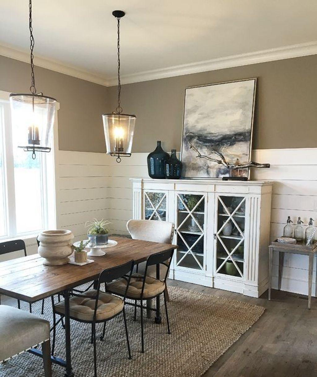 Popular Farmhouse Dining Room Design Ideas Trend 2019 03
