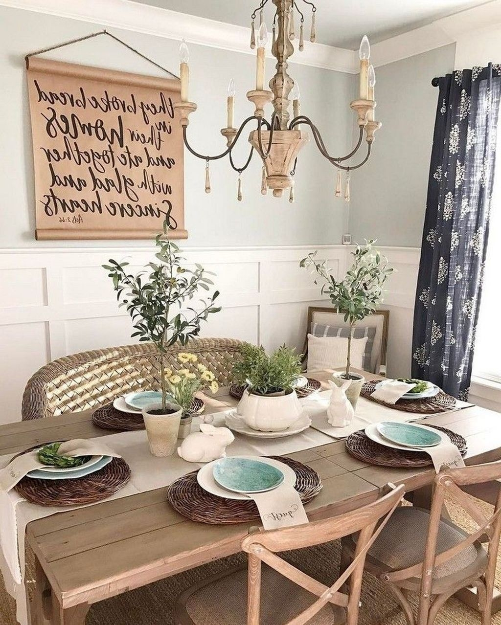 Popular Farmhouse Dining Room Design Ideas Trend 2019 08