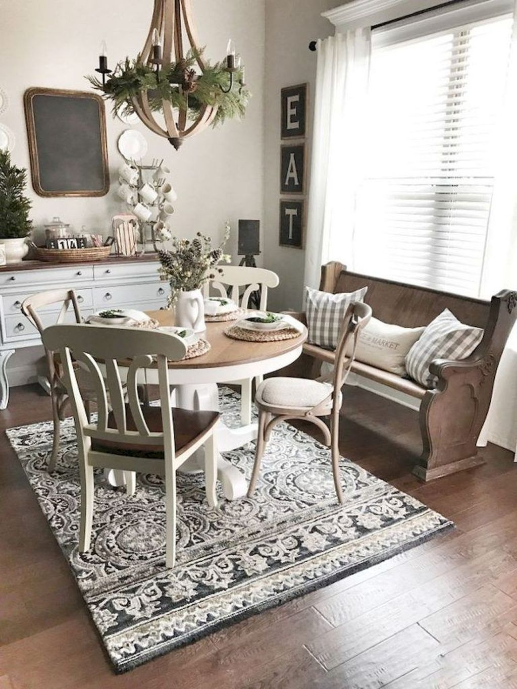 Popular Farmhouse Dining Room Design Ideas Trend 2019 10