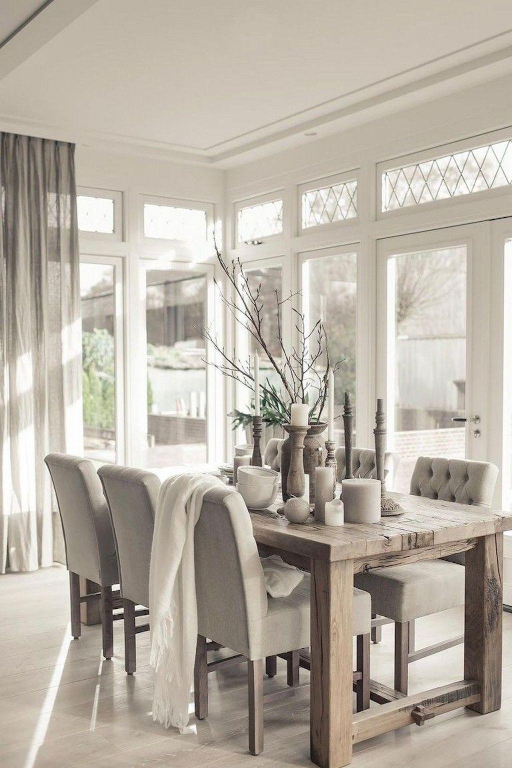 Popular Farmhouse Dining Room Design Ideas Trend 2019 19