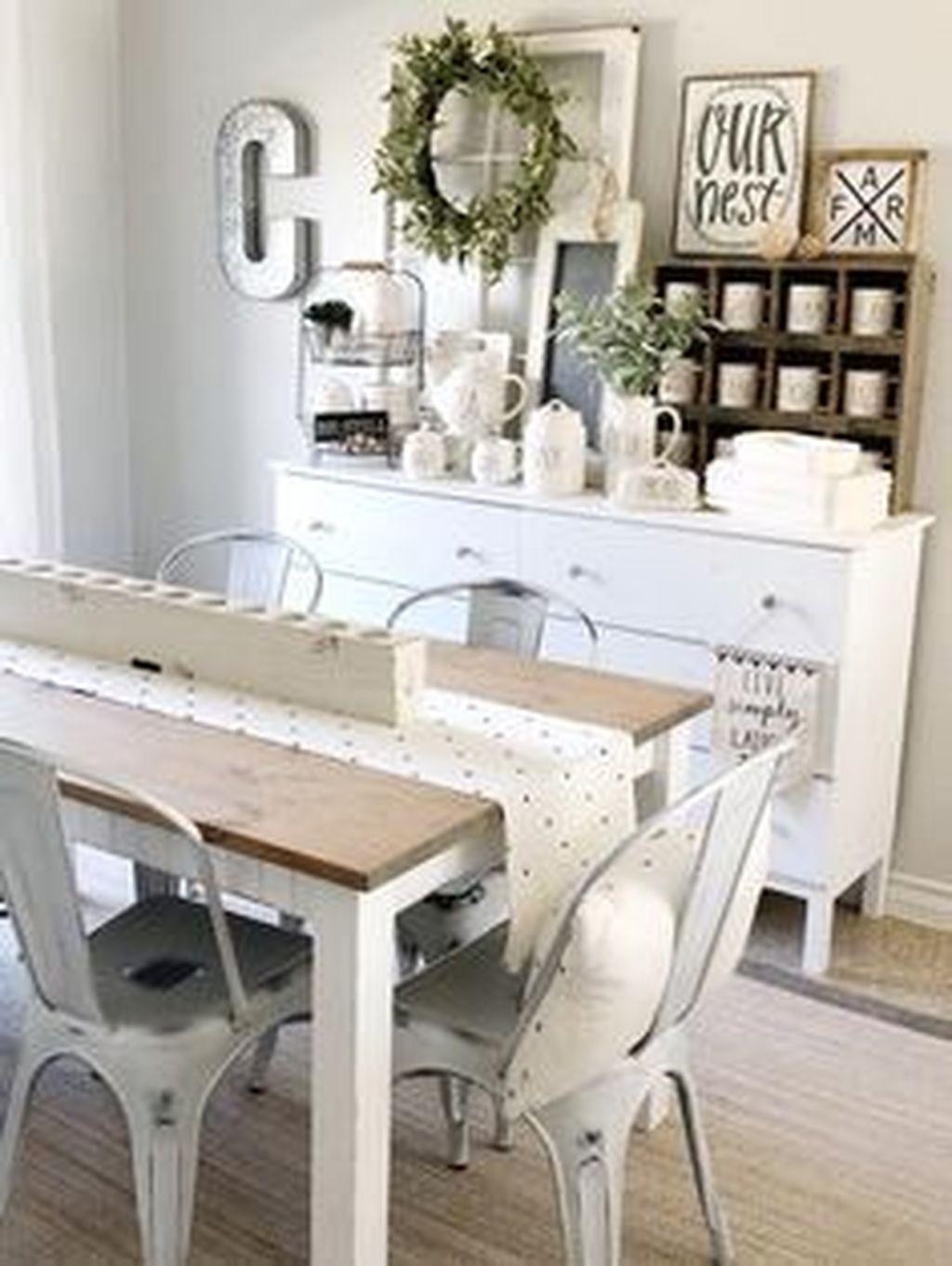 Popular Farmhouse Dining Room Design Ideas Trend 2019 25