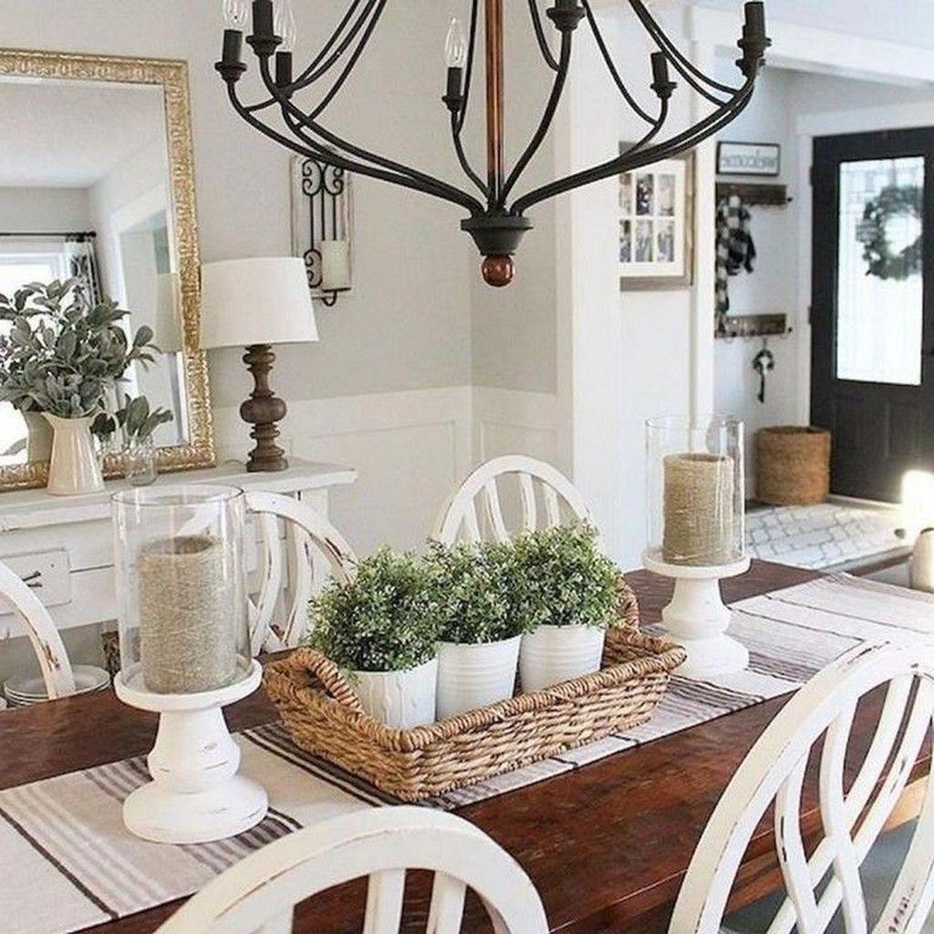 Popular Farmhouse Dining Room Design Ideas Trend 2019 31