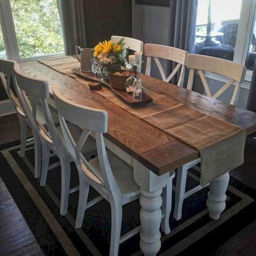 46 Popular Farmhouse Dining Room Design Ideas Trend 2019
