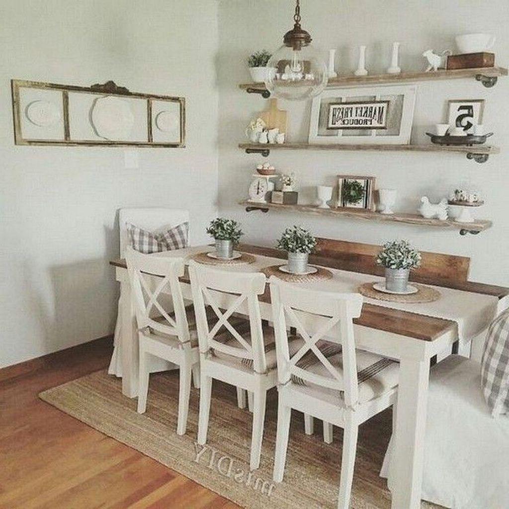 Popular Farmhouse Dining Room Design Ideas Trend 2019 33