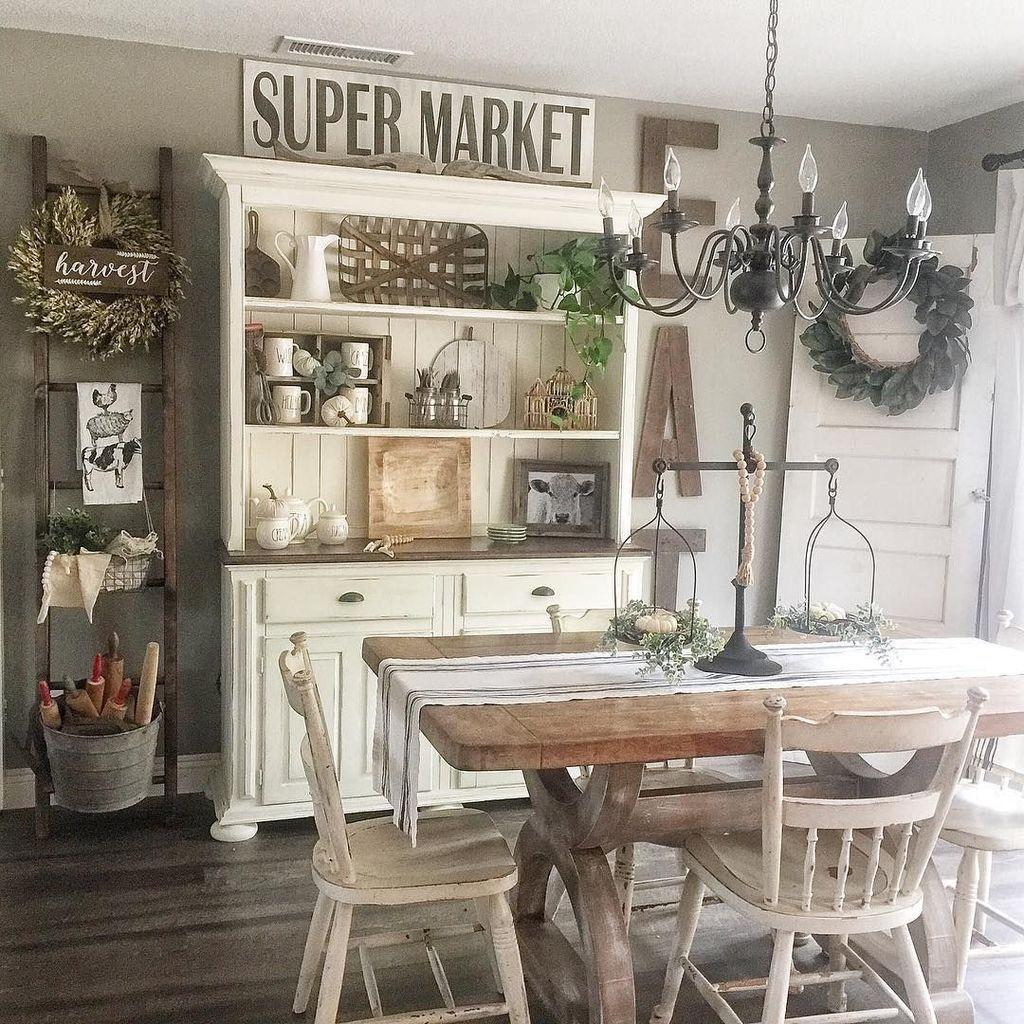 Popular Farmhouse Dining Room Design Ideas Trend 2019 36