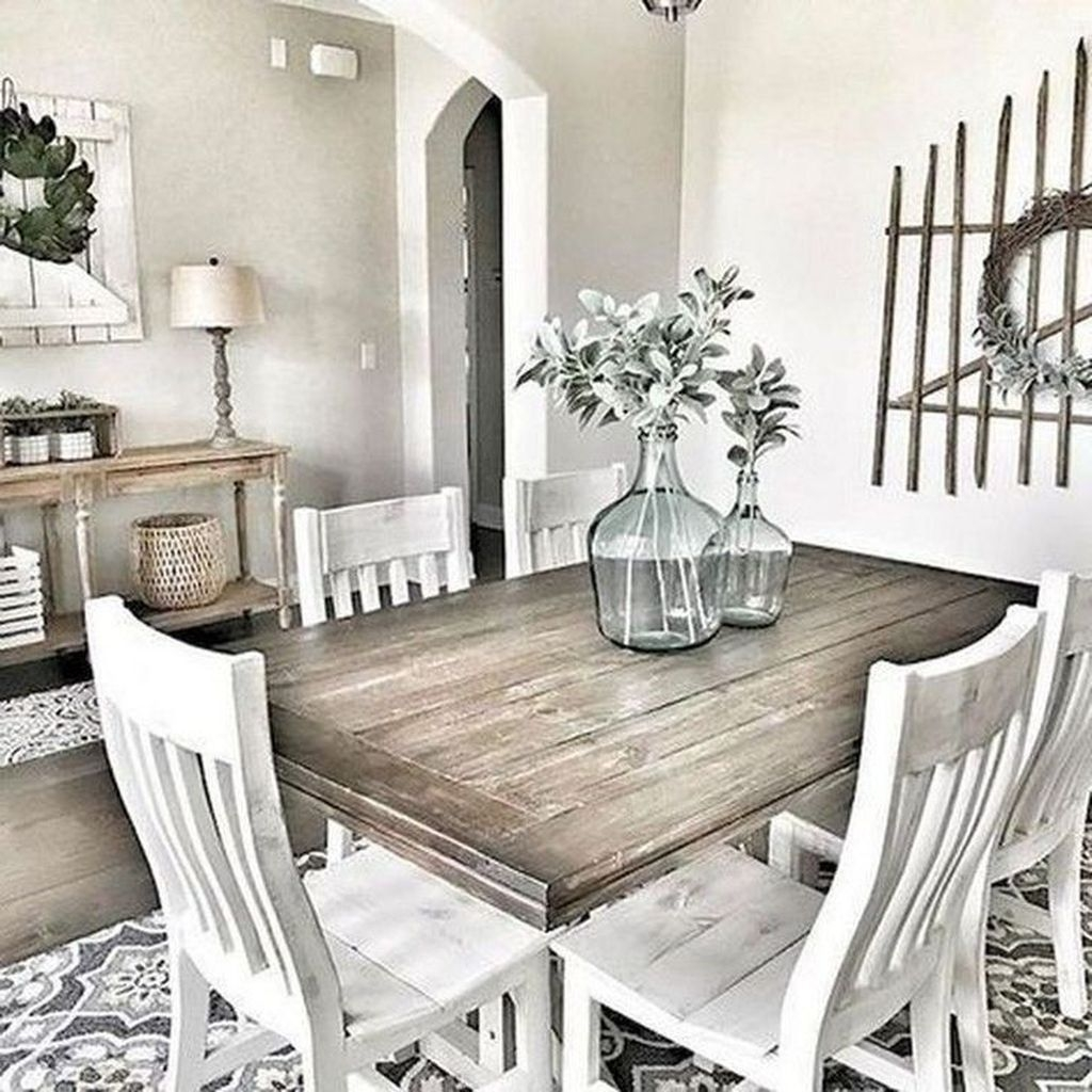 Popular Farmhouse Dining Room Design Ideas Trend 2019 42