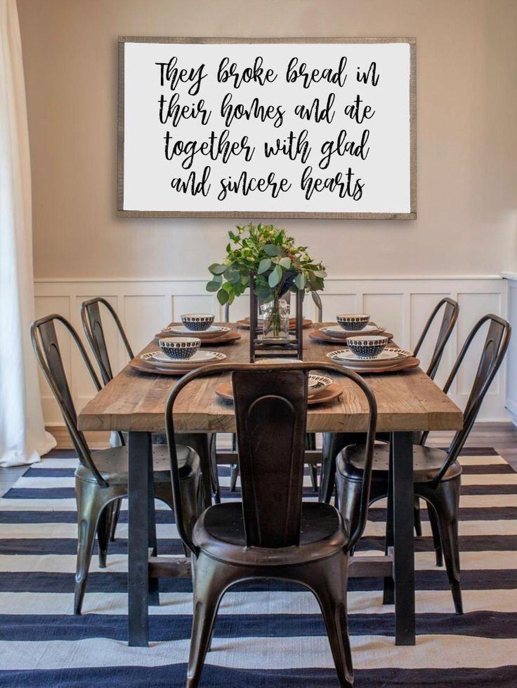 Popular Farmhouse Dining Room Design Ideas Trend 2019 44