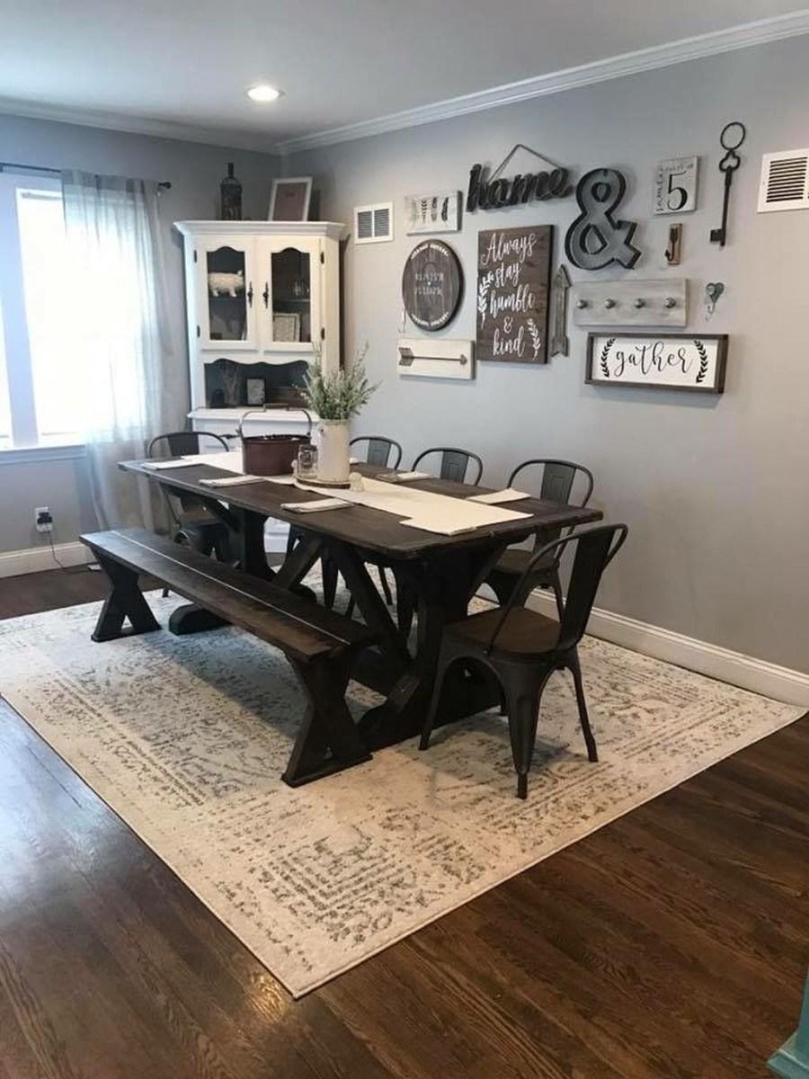 Popular Farmhouse Dining Room Design Ideas Trend 2019 45