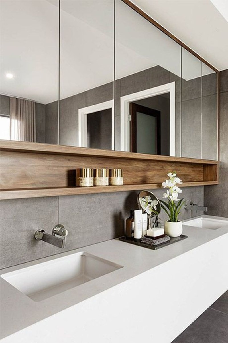 Stunning Bathroom Mirror Decor Ideas 15