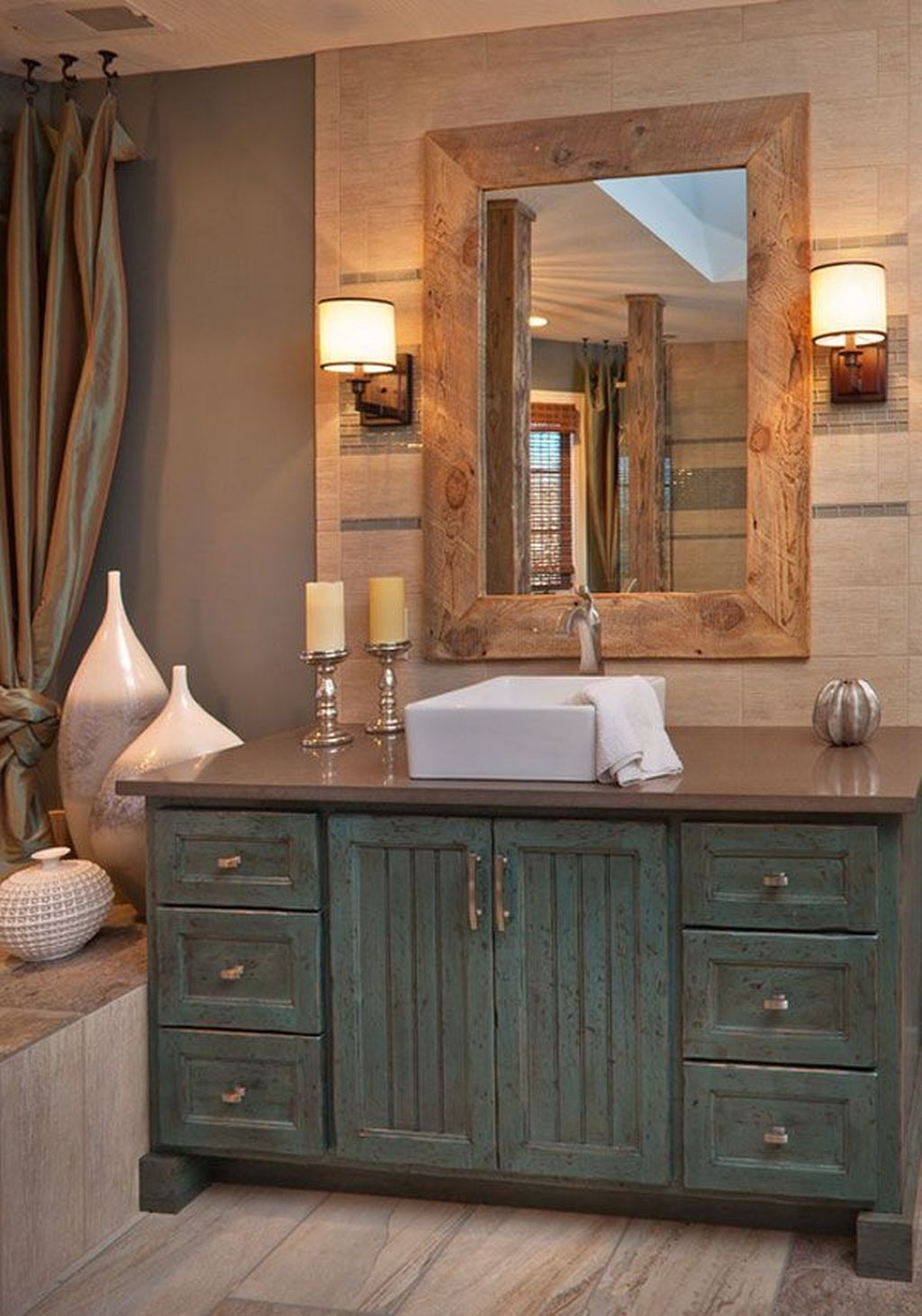 Stunning Bathroom Mirror Decor Ideas 29