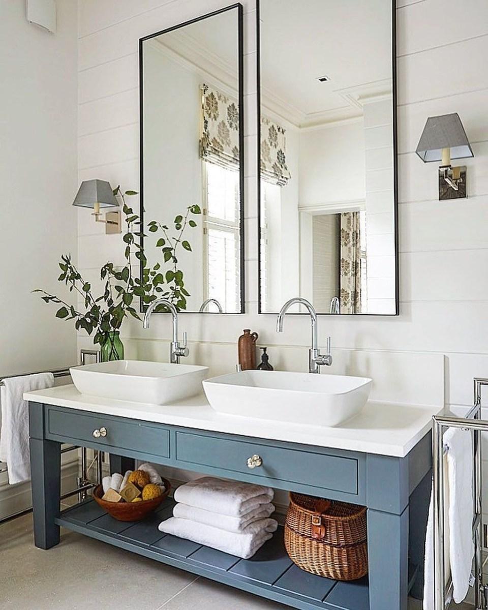 Stunning Bathroom Mirror Decor Ideas 34