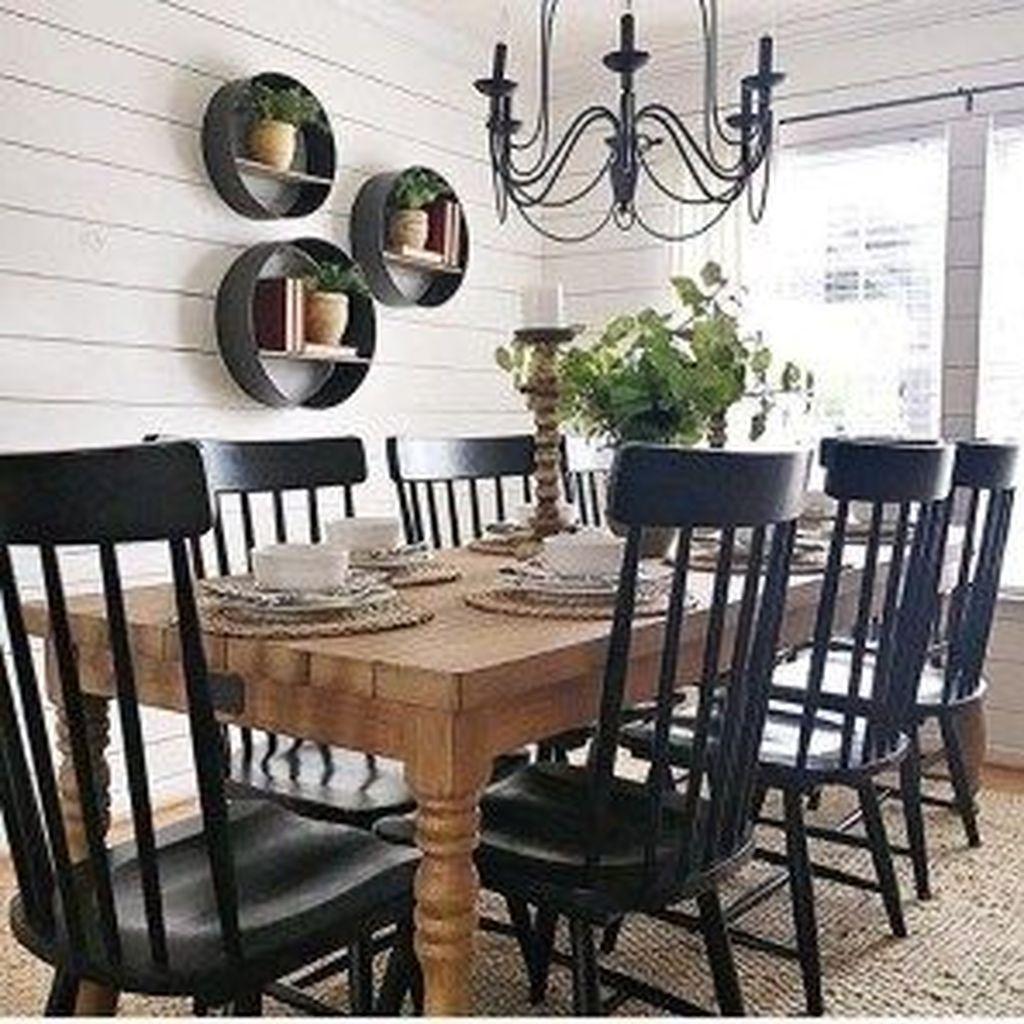 Stunning Farmhouse Dining Room Decoration Ideas 08