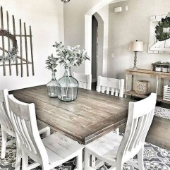 Stunning Farmhouse Dining Room Decoration Ideas 10