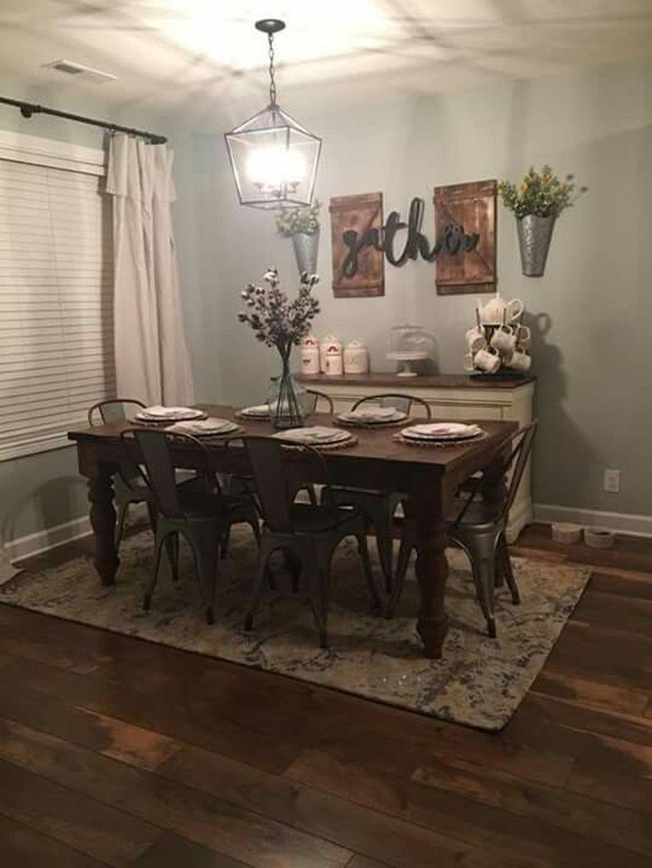 Stunning Farmhouse Dining Room Decoration Ideas 14