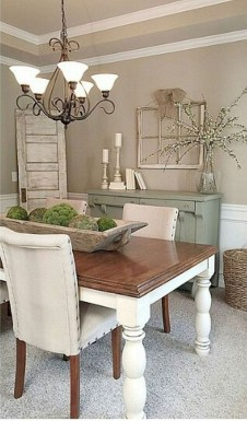 Stunning Farmhouse Dining Room Decoration Ideas 29