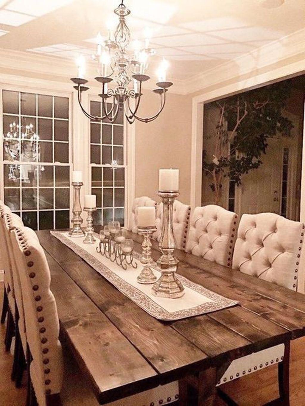 Stunning Farmhouse Dining Room Decoration Ideas 38